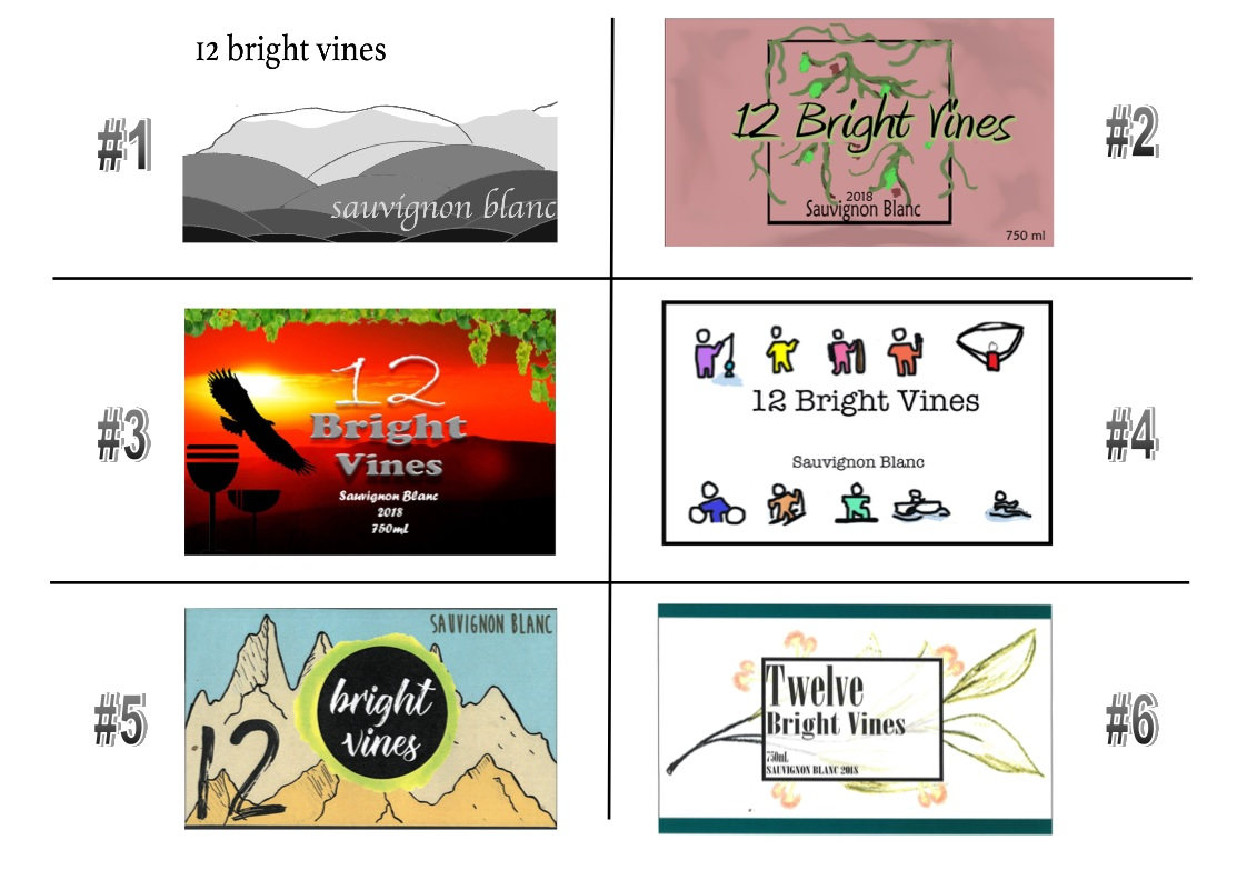 12 Bright Vines 2018 Vintage - Label Voting