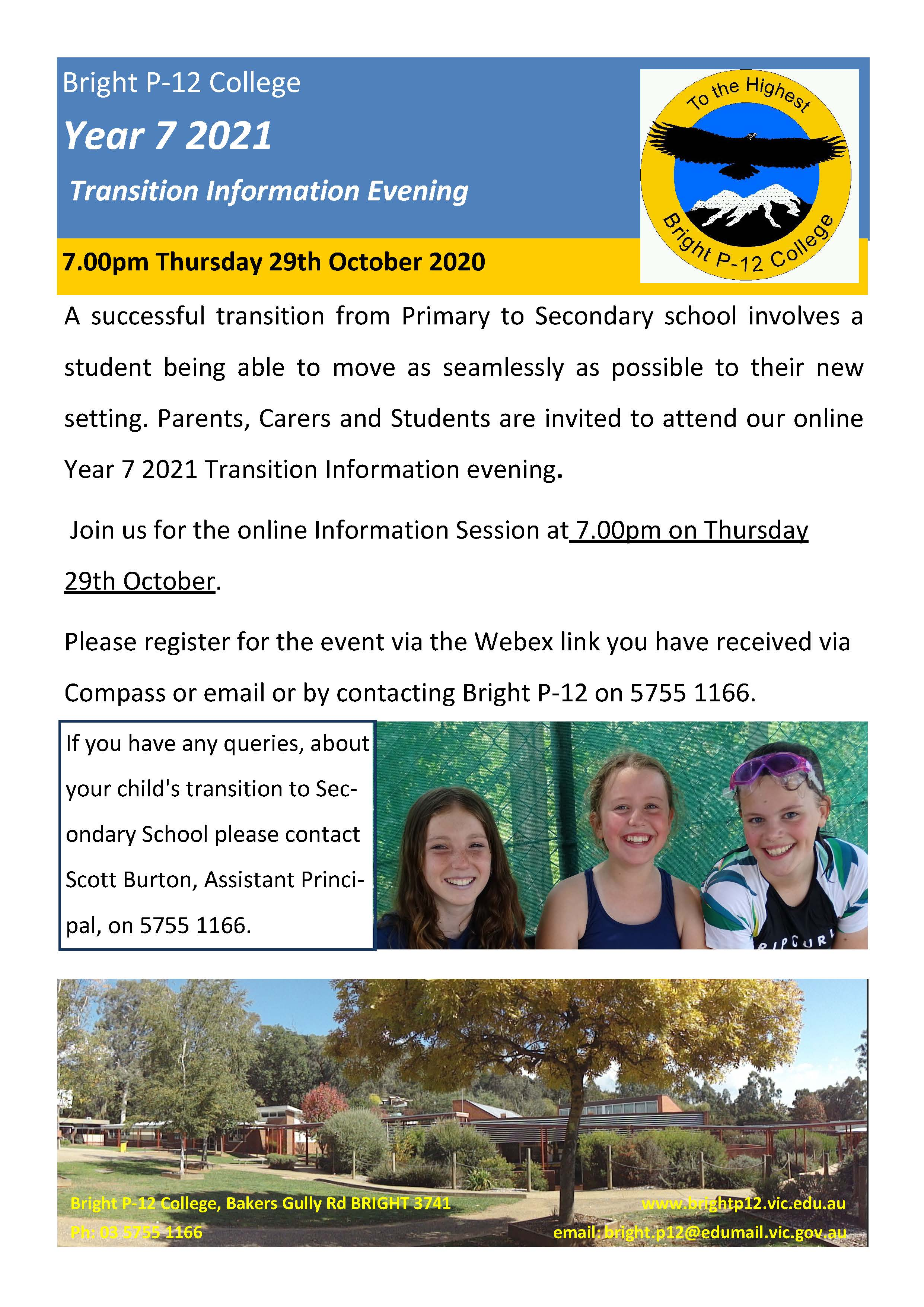 Year 7 Info Night